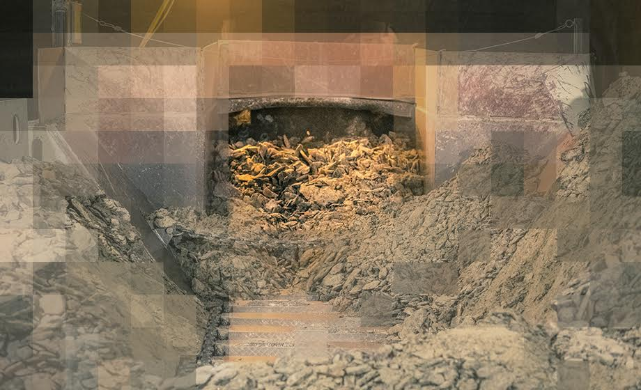 Graphic showing inside of soda ash mine
